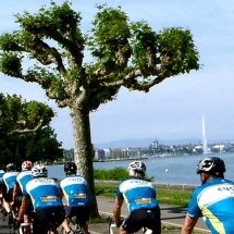 Cycling next to the Lake in Geneva