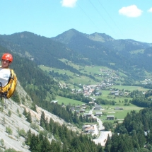Rock climbing in the Abondance valley