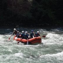 White water rafting on the dranse