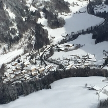 Snowy Abondance from the air