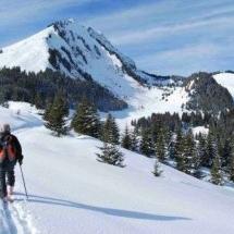 Ski touring in Abondance