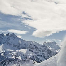 Snow Boarding in Champery