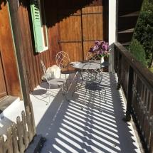 Chalet Alys breakfast terrace